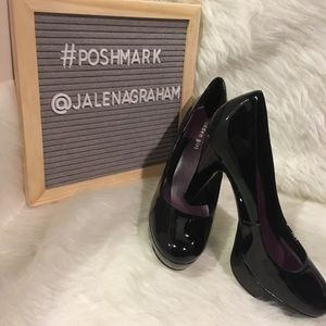 """Madden thick sole 4"""" heels patent leather black 9"""